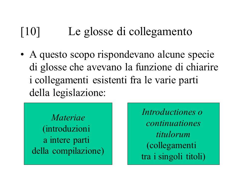 [10] Le glosse di collegamento